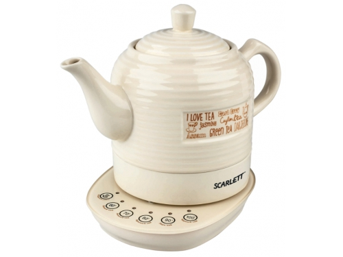 Чайник электрический Scarlett SC-EK24C02, бежевый, вид 1