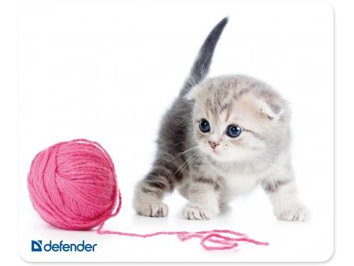 Коврик для мышки Defender Silk, разноцветный с рисунком, вид 6