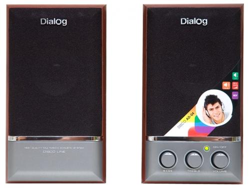 Компьютерная акустика Dialog AD-04 wood, вишня, вид 1