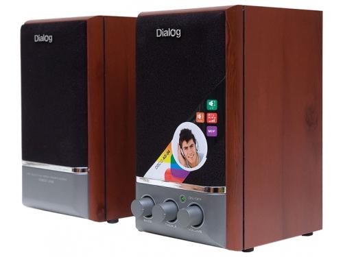 Компьютерная акустика Dialog AD-04 wood, вишня, вид 2