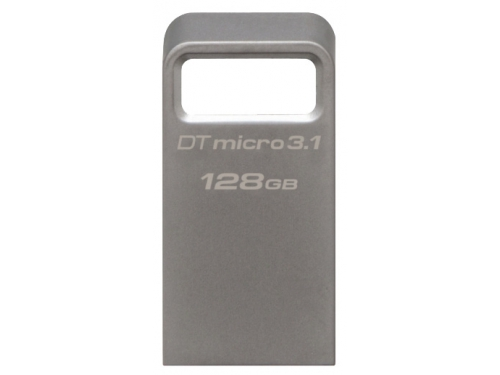 Usb-флешка Kingston DataTraveler Micro 3.1 128GB, серебристая, вид 1