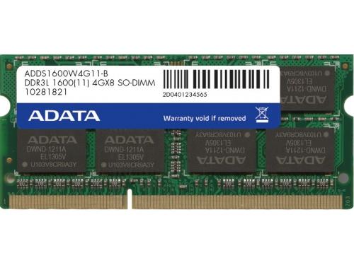 Модуль памяти DDR-3 SODIMM 4096Mb ADATA 1.35V ADDS1600W4G11-B, вид 1
