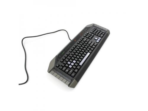 Клавиатура Mad Catz Cyborg V.7 Keyboard Black-Grey USB, вид 2