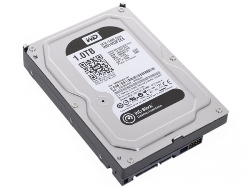 Жесткий диск WD SATA-III 1000Gb 7200, буфер 64Mb, WD1003FZEX Black, вид 1