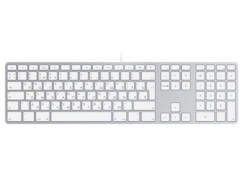 Клавиатура Apple MB110 Wired Keyboard White, вид 2