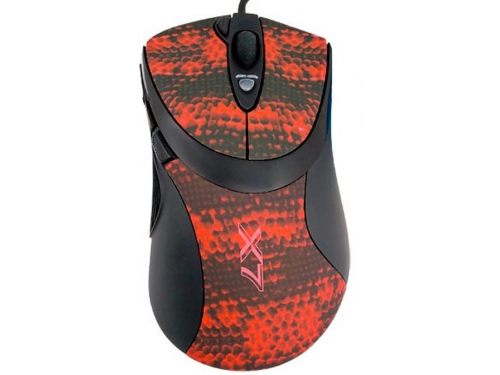 Мышка A4Tech F7 Snake Black-Red USB, вид 2