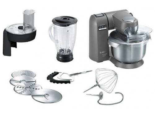 Кухонный комбайн Bosch MUM XX40G, серебристый, вид 1