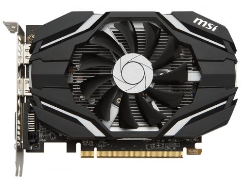 Видеокарта Radeon MSI Radeon RX 460 1210Mhz PCI-E 3.0 4096Mb 7000Mhz 128 bit DVI HDMI HDCP, 4G OC, вид 1