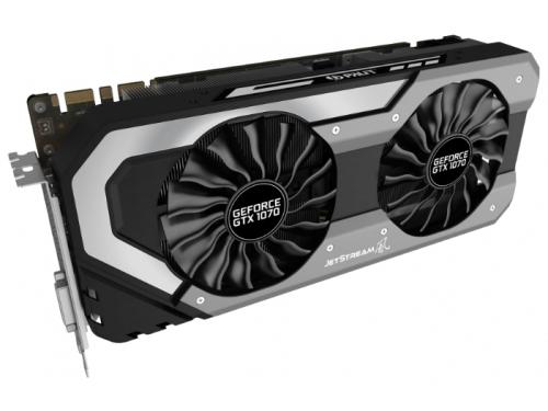 Видеокарта GeForce Palit GeForce GTX 1070 1632Mhz PCI-E 3.0 8192Mb 8000Mhz 256 bit DVI HDMI HDCP, вид 2