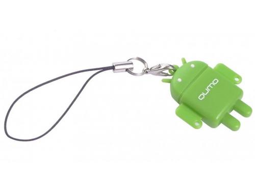 Карта памяти Qumo microSDHC class 10 32GB + Fundroid USB Card Reader Green, вид 2