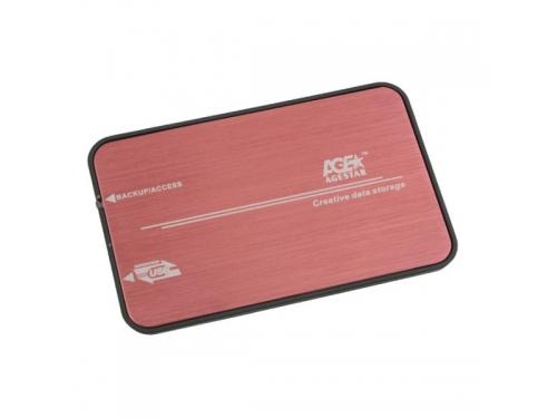Корпус для жесткого диска AgeStar 3UB2A8 Red USB 3.0, вид 2