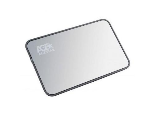 Корпус для жесткого диска AgeStar 3UB2A8 Silver USB 3.0, вид 1