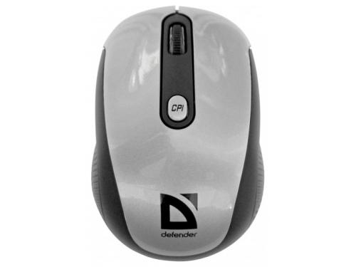 Мышка Defender Optimum MS-125 Nano Silver-Black USB, вид 1