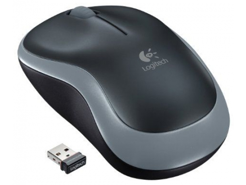 Мышка Logitech Wireless Mouse M185 Grey-Black USB, вид 1