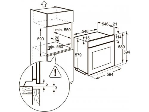 Духовой шкаф AEG BS 5831472 M, встраиваемый, электрический, вид 4