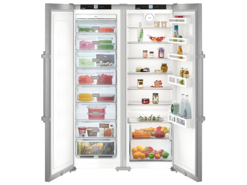 Холодильник Liebherr SBSef 7242, серебристый, вид 1