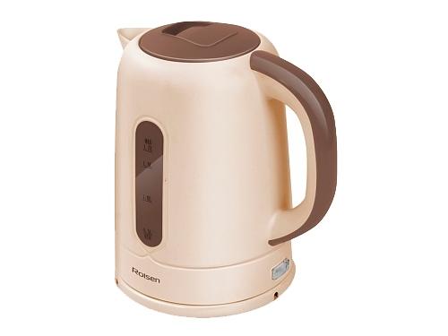Чайник электрический Rolsen RK-2723P, бежевый/коричневый, вид 1