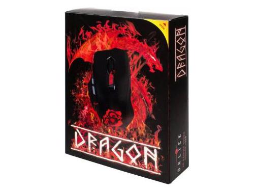 Мышка Oklick 725G DRAGON Black/Red, вид 3