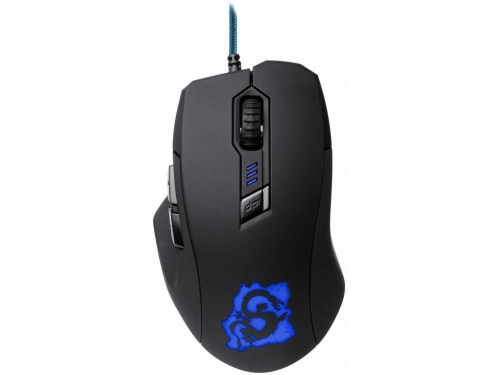 Мышка Oklick 725G DRAGON Black/Blue, вид 1