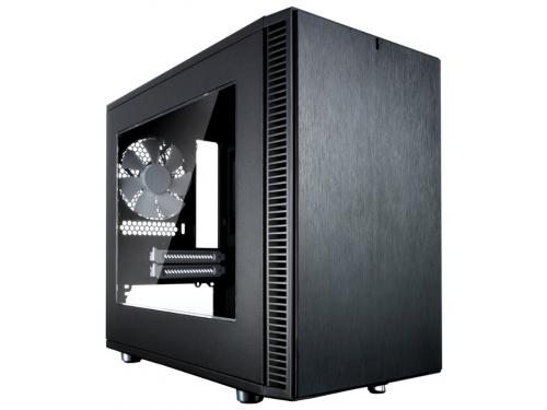 Корпус Fractal Design Define Nano S, Black FD-CA-DEF-NANO-S-BK-W с окном, вид 1