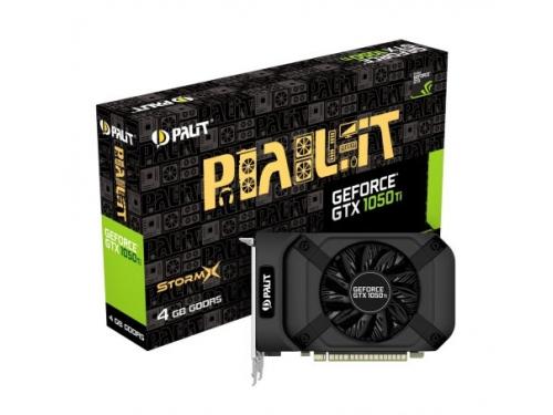 Видеокарта GeForce Palit GeForce GTX 1050 1290Mhz PCI-E 3.0 4096Mb 7000Mhz 128 bit DVI HDMI (PA-GTX1050Ti StormX 4G), вид 1