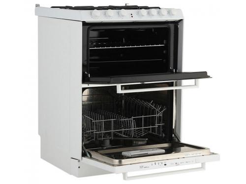Плита Candy Trio 9501/1 W (газоэлектрическая, со встроенной посудомоечной машиной), белая, вид 3