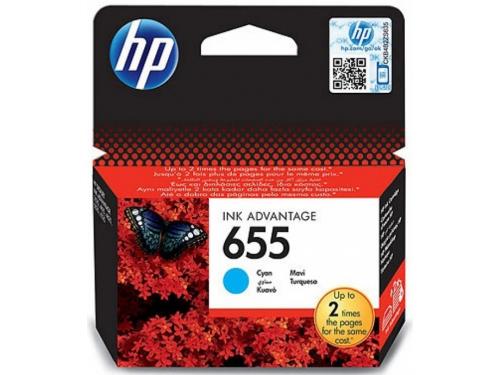 Картридж HP №655 HP-CZ110AE Cyan, вид 1
