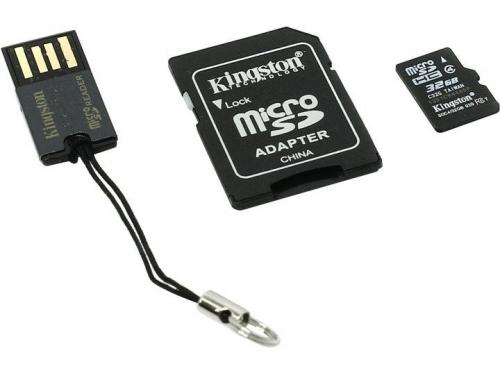 Карта памяти Kingston MBLY4G2/32GB (с SD-адаптером и USB-картридером), вид 1