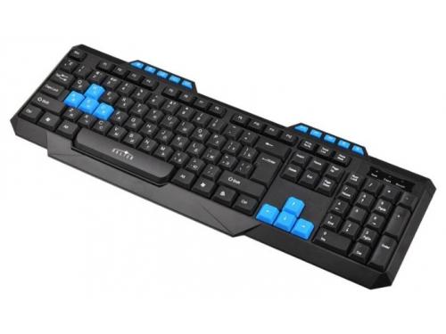Клавиатура Oklick 750G USB, черно-синяя, вид 1