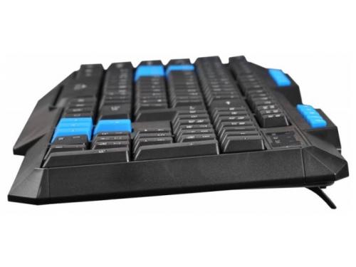 Клавиатура Oklick 750G USB, черно-синяя, вид 3