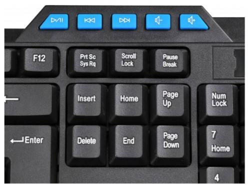 Клавиатура Oklick 750G USB, черно-синяя, вид 5