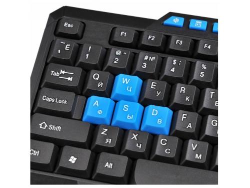 Клавиатура Oklick 750G USB, черно-синяя, вид 6