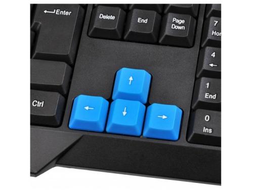 Клавиатура Oklick 750G USB, черно-синяя, вид 7