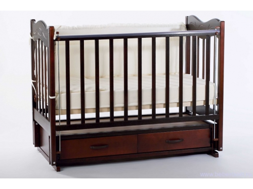 Детская кроватка Ведрусс Милена, вишня, вид 1