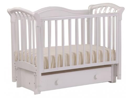 Детская кроватка Кубаньлесстрой Азалия БИ 10.3, белая, вид 1