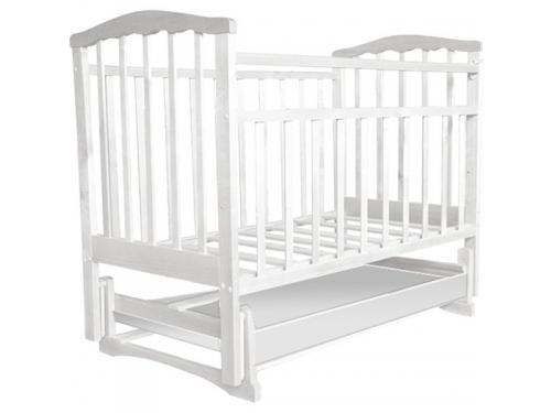 Детская кроватка Агат Золушка-4, белая, вид 1