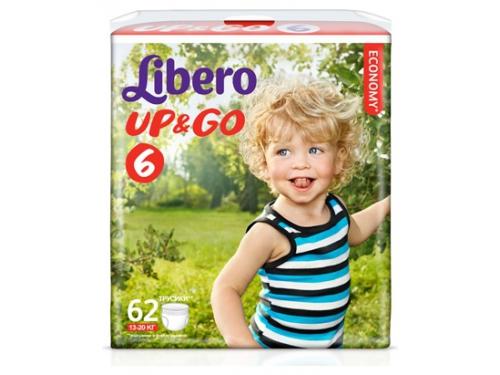 Подгузник Libero Up&Go Giga Pack (13-20 кг) 62 шт., вид 1