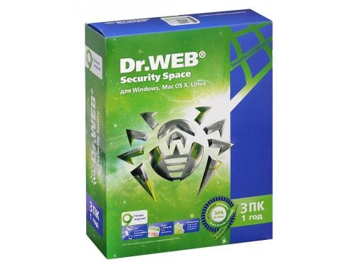 Программа-антивирус DR.Web Security Space 3 ПК/1 год, вид 1