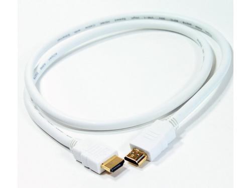 Кабель (шнур) AOpen HDMI 19M/M 1.4V+3D/Ethernet AOpen 1m (ACG511W-1M), белый, вид 2