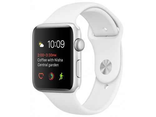 Умные часы Apple Watch Series 1 42 mm, серебро/белые, вид 1