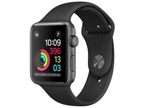 Умные часы Apple Watch Series 2 42mm, графит/черные, вид 2