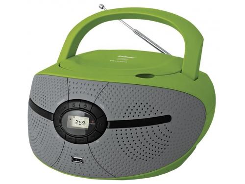 Магнитола BBK BX195U, зелено-серая, вид 1