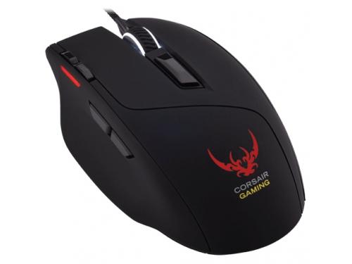 Мышь Corsair Gaming Sabre Optical RGB Gaming Mouse, черная, вид 2