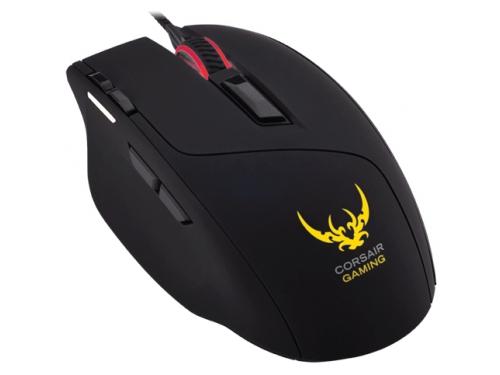 Мышь Corsair Gaming Sabre Optical RGB Gaming Mouse, черная, вид 4