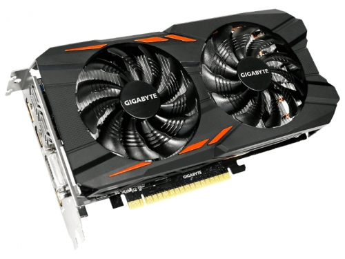 Видеокарта GeForce Gigabyte PCI-E NV GTX1050 Ti 4096Mb 128b DDR5 GV-N105TWF2OC-4GD, вид 1