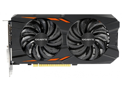 Видеокарта GeForce Gigabyte PCI-E NV GTX1050 Ti 4096Mb 128b DDR5 GV-N105TWF2OC-4GD, вид 2