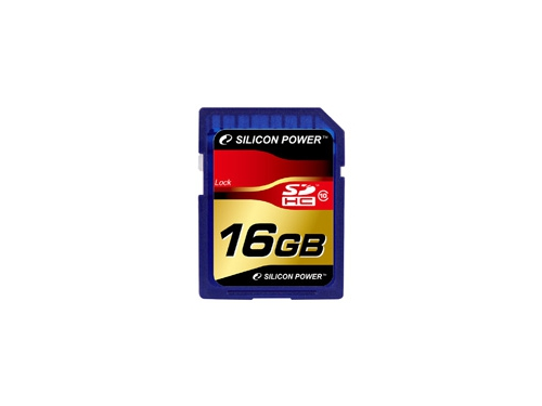 Карта памяти SDHC 16Gb class10 Silicon Power, вид 1