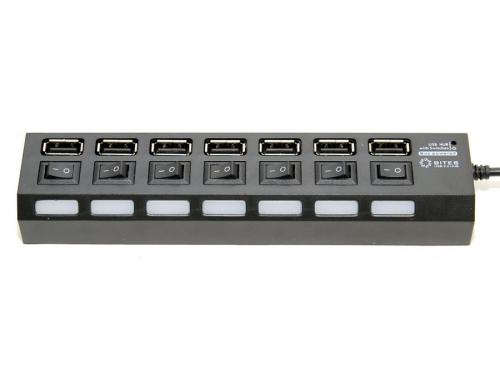USB-концентратор 5bites HB27-203PBK, блок питания, черный, вид 3