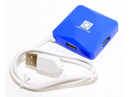 USB ������������ 5bites HB24-202BL BLUE, ��� 1