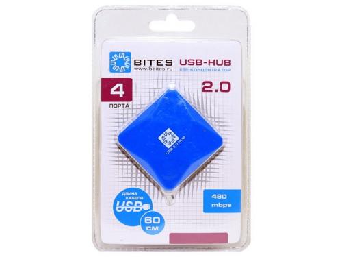 USB ������������ 5bites HB24-202BL BLUE, ��� 3